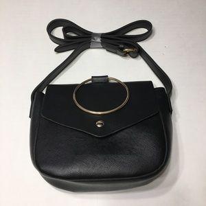 Handbags - NWOT BLACK CROSSBODY BAG GOLD ACCENTS